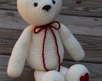 Toy Bear, Crochet Bear, Crochet Teddy Bear, Amigurumi Bear, Teddy Bear, Bear, Ivory Bear, Plushie, Stuffed Teddy Bear, Mrs Vs Crochet