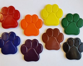 Paw Print Crayons - Set of 8 - Great for Paw Patrol Party