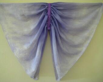 Butterfly Wings Costume, Periwinkle Silk Kids Small Fairy Wings