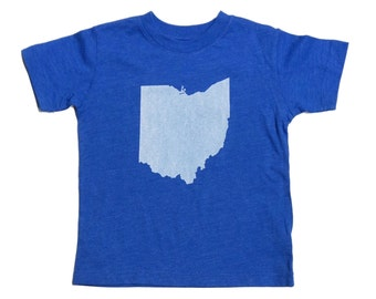 Youth and Toddler Tee - 'Ohio State' on Vintage Royal Blue