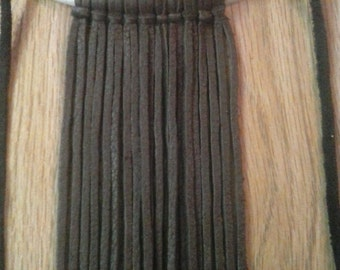Leather and Bone Fringe Necklace - Tribal Necklace - Boho Necklace - Fun Necklaces - Elusive Wolf