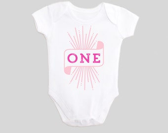 Girls First Birthday Outfits - One - Birthday Outfits - Baby Bodysuit