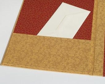 Desk Blotter with Privacy Flap - Gold Filagree