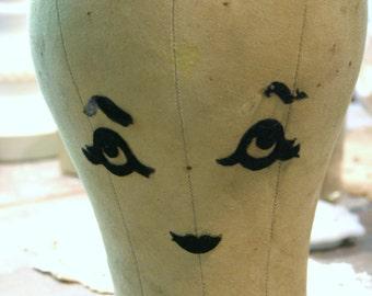 Vintage Hat Model Form Added Facial Characteristics