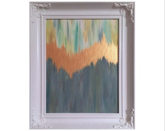 Navy Gold Abstract Art