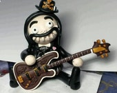 Lemmy for Angela only please.  Lemmy Voodoo Doll. Hand Sculpted polymer clay figurine