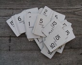 flinch numbered playing cards set of 109 wedding tables table numbers  scrapbooking mid century