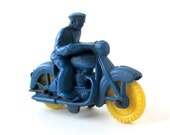 Vintage Blue Toy Motorcycle 1950s, MC Rider, Cycle Toy, Auburn Company