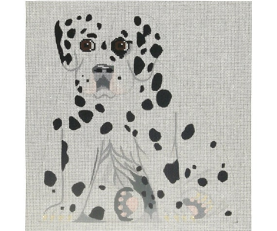 Needlepoint Handpainted Dog Canvas - Dalmatian Puppy