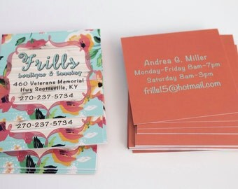 Custom Business Cards - Square Business Cards  - Design Your Own Business Cards - Customized Cards - Promotional