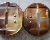 Smoky MOP Belt Buckle Clasp Mother of Pearl Shell
