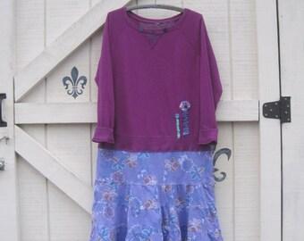 Bohemian clothing, Rustic dress, casual tunic dress, gypsy cowgirl, rustic chic