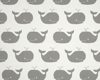 Nursing Pillow Cover - Gray Whale and Minky Boppy Cover