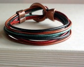 Multi Strand Fall Blend Leather Wrap Bracelet