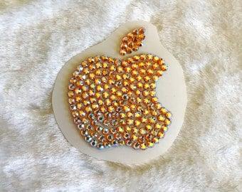 2 Inch Swarovski MAC Apple Sticker - Sunflower Gold