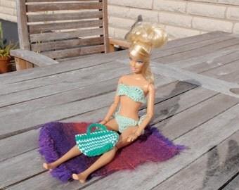 Barbie bikini crochet, Barbie clothes, Barbie Fashion