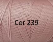 Linhasita Light Powder Pink cor 239 - 100% Waxed Polyester Cord Washable, durable/ Hilo