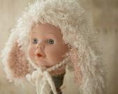 Little Lambkins Long Ear Lamb Cap Newborn Photography 1st Photos Curly Long Earred Poodle Lamb Hat Newborn BabyGender Neutral Adorable Cap