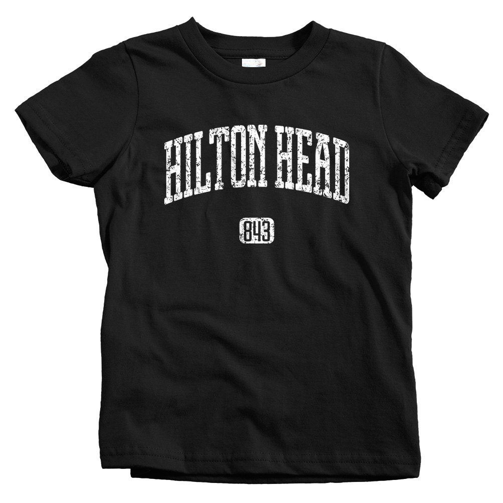 Kids Hilton Head 843 T Shirt Baby Toddler And Youth Sizes