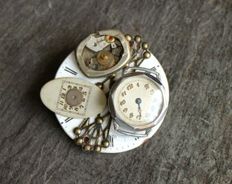 Antique Pocket Watch part brooch