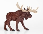 Woodland Glitter Moose Fall Wedding Table Decoration Rustic or Autumn Baby Showers, Man Caves, Fall Tablescapes, Birthday Party Centerpiece