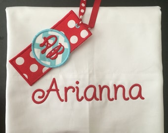 Personalized Pillow Case and Bookmark