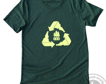 208 Recycle Mens Tee -BANANA ink