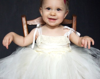 Tulip Flower Girl Dress Lace and Tulle SAMPLE SALE