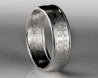 Alaska Quarter - Coin Ring - SILVER (.900)