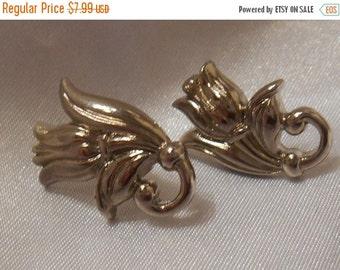 40% OFF SALE Avon Spring Tulip Silver Pierced Earrings