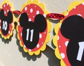Mickey Mouse Inspired First Year Monthly Banner
