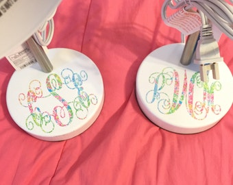 Multi Lovers Coral Lilly Pulitzer Inspired Monogram  Decal ~ Yeti Decal ~ Lilly Car Decal ~ Lilly Monogram Decal ~ Lilly Sticker