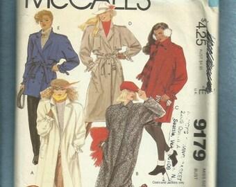 Vintage 1980's McCalls 9179 Trench Coat Pattern Brooke Shields Size 12 UNCUT