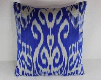 Cotton Ikat Pillow, Ikat Pillow Cover,  C128, Ikat throw pillows, Designer pillows, Decorative pillows, Accent pillows