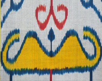 Sale! Ikat Fabric, Ikat Fabric by the yard, Hand Woven Fabric , F-A476-20