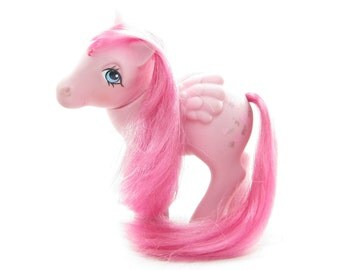 Heart Throb Pegasus G1 My Little Pony Pink with Hearts, Silver Wings