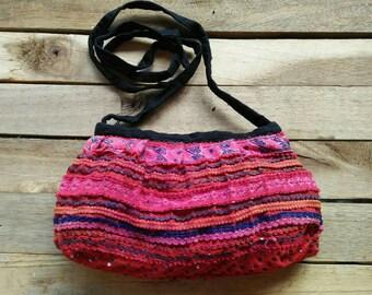 Ethnic Hmong Colorful Embroidered Bag