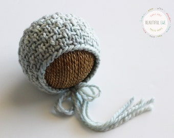 Knitting Pattern - Sawyer Bonnet - Newborn Photography Prop