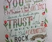 Printable Coloring Page - Isaiah 26:3-4