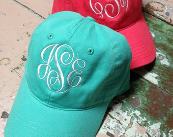 Monogrammed Ball Cap Ladies Personalized Ball Cap Teens Bridesmaids Girls New Colors