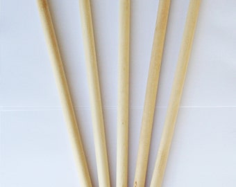 Wood dowel rods for your DIY crafting project / dowel for weaving project / banner project / package of 5 dowel rods 3/8 inch diameter