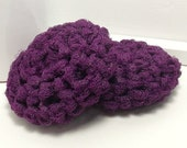 Purple Scrubbies - Reusable Dish Scrubbers - Purple Scouring Pads - Eggplant Scrubby - Set of 2