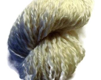 Handspun Natural Finish Worsted Wool Yarn - Handspun Finishwool - Wool Yarn - Handspun Nature White Worsted Yarn - EU SELLER