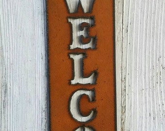 Metal Texas Welcome Sign