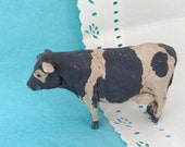 Cow Sculpture - Holstein - realistic looking Collectible - Farmhouse -  Home Decor - Sculpture - small cow figurine - Kitchen Decor