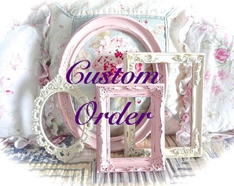 YOU PICK COLOR Custom Order Set Picture Frames Made To Order
