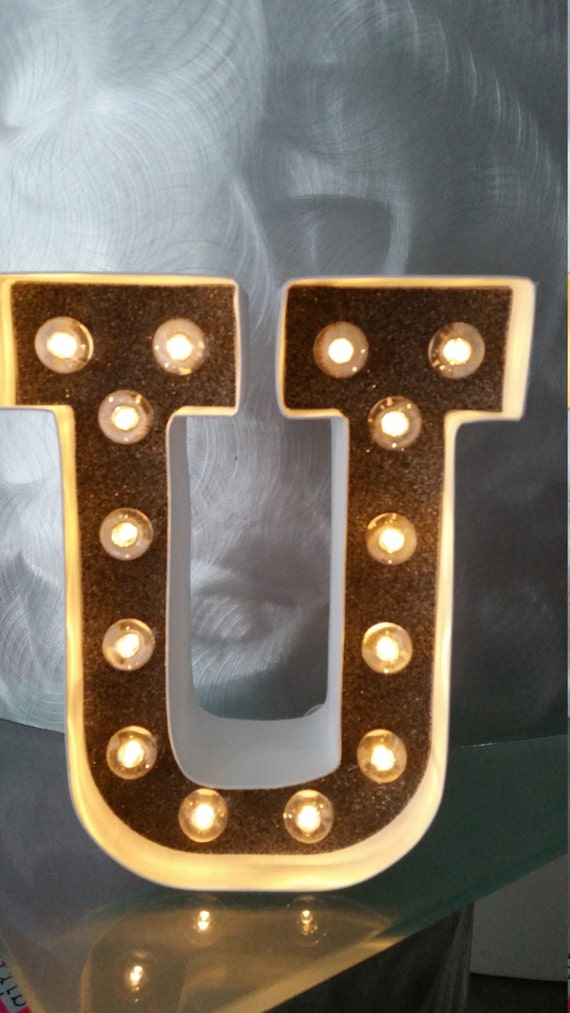 marquee light up letters light up letter u marquee light up black glitter and white 23581 | il 570xN.853024507 tmzx