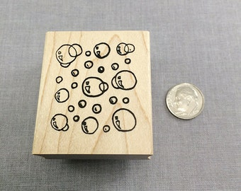 Bubble Background Rubber Stamp