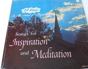 Songs for Inspiration and Meditation Played by the 101 Strings Vintage Vinyl Record Album Alshire LP