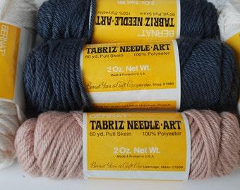 5 skeins Bernat Tabriz Needle Art